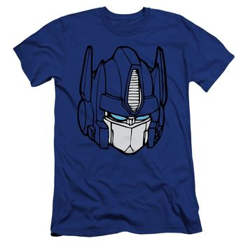 Transformers Premium Canvas T-Shirt Optimus Prime Face Royal