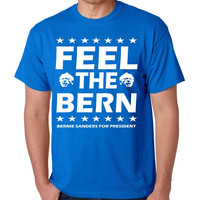 Feel the bern Bernie Sanders for president men t-shirt