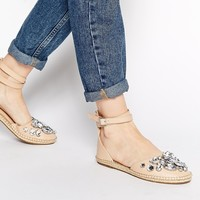 KG by Kurt Geiger Moonstone Espadrille Flat Shoes
