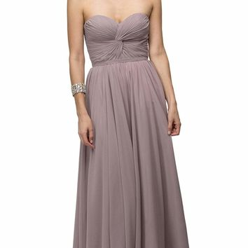 Dancing Queen - 8789 Strapless Ruched Sweetheart Corset Prom Dress