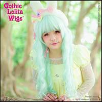 Gothic Lolita Wigs®  Classic Wavy Lolita™ Collection - Mint -00044