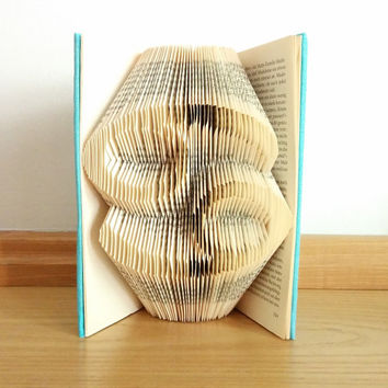 Folded book zodiac signs, star sign book folding, book art, birthday present, book sculpture