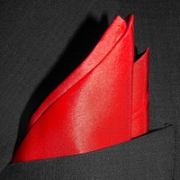 """Fine Red Pocket Square by ROYAL SILK® - Full-Sized 16""""x16"""""""