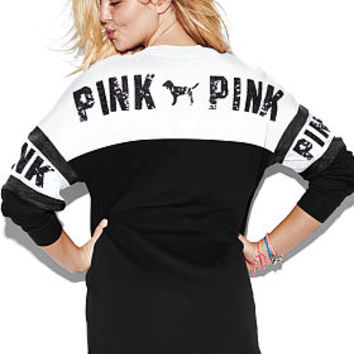 Lace-Up Varsity Crew - PINK - Victoria's Secret