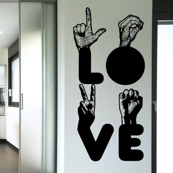 Vinyl Wall Decal Sticker L-O-V-E #5442