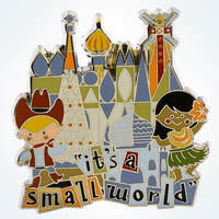 "Disney Parks "" It's a Small World"" Children Logo Pin New With Card"