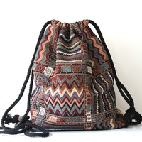 Hippie Bohemian Boho  Aztec  Backpack
