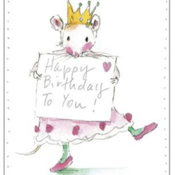 Queen Mouse Birthday Card