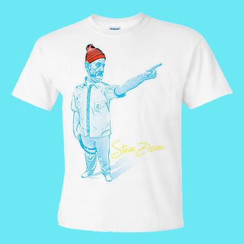 Life Aquatic with Steve Zissou Bill Murray T Shirt