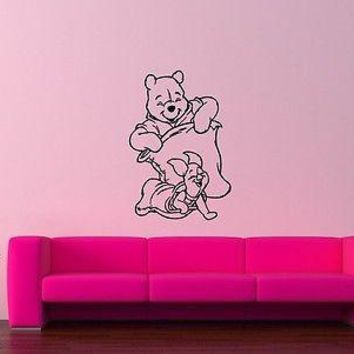 Wall Stickers Vinyl Decal Kid Cartoon Winnie the Pooh Decor Positive Unique Gift (ig1039)