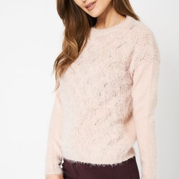 Dusty Pink Fluffy Jumper