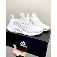 Adidas alphaboost street fashion men's and women's sports cushioning running shoes White