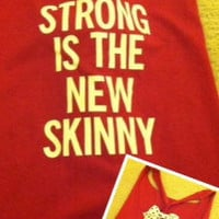 Strong is the New Skinny Red Work-out Tank Top