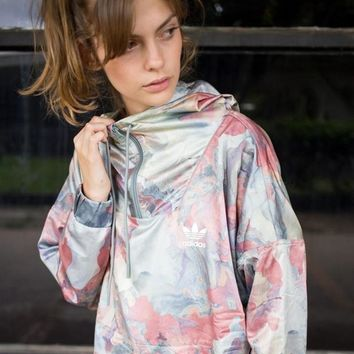 Fashion Online Adidas Originals Women Camouflage Windbreaker Jacket