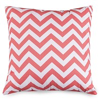 Coral Chevron Large Pillow