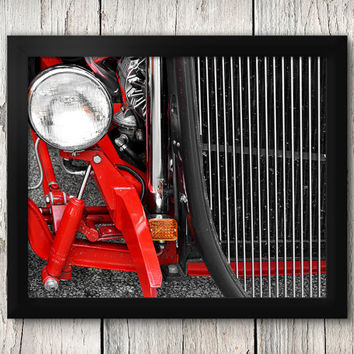 Hot-rod Roadster Grill and Headlight Close-up - Classic Car Decor, Man Cave art - Manly Photographic Art Prints