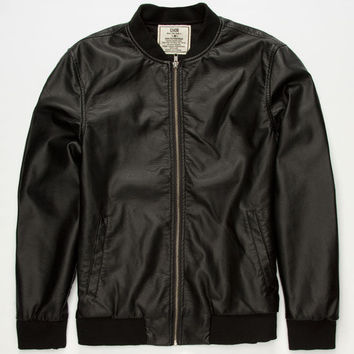 Chor Tnt Mens Faux Leather Jacket Black  In Sizes