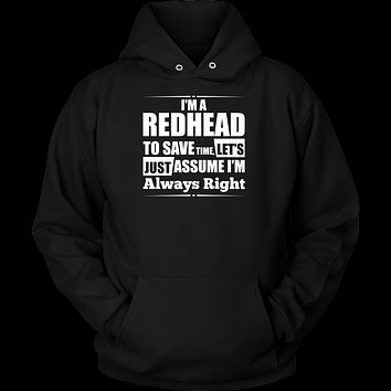 Hobbies - I m a redhead to save time - Unisex hoodie t shirt - TL00830HO