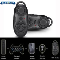 ELEGIANT Wireless Bluetooth Gamepad Remote Controller For 3D VR Glasses Google Cardboard Selfie Camera Shutter Wireless Mouse Music Player Ebook Tablet PC TV