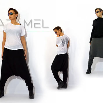 Unisex Pants/Drop Crotch Pants/Harem Pants/Pants baggy/Casual Pants  by CARAMEL fs- P-7015