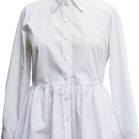 Peplum Women's Button Down Shirt Blouse