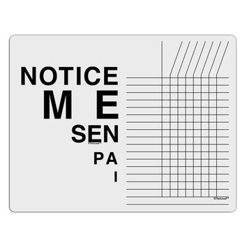 Notice Me Senpai Triangle Text Chore List Grid Dry Erase Board