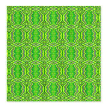 Retro Lime Green Pattern Shower Curtain> Green Fractal Art Gifts> Hippy Gift Shop Funky Hippie Gifts