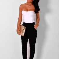 Blanka Black Tailored Pocket Trousers | Pink Boutique