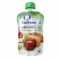 Gerber 2nd Foods Organic Baby Food Pouches, Apple Carrot Squash