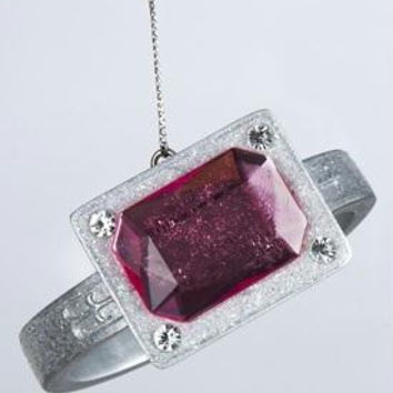 Christmas Ornament - Pink Gemstone