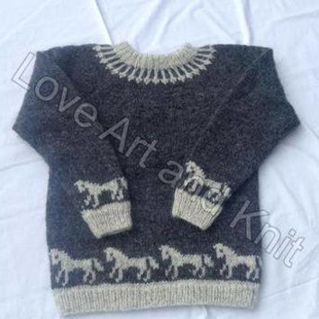 Ready to ship, Icelandic sweater, lopapeysa, Icelandic wool, unisex adult clothing, adult sweater, lopi,