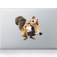 Mac sticker .squirrel-Mac decals Macbook sticker Macbook pro decal Macbook air decal Aappl decal sticker