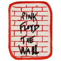 Pink Floyd Men's The Wall Red Bricks 2 Screen Printed Patch Red