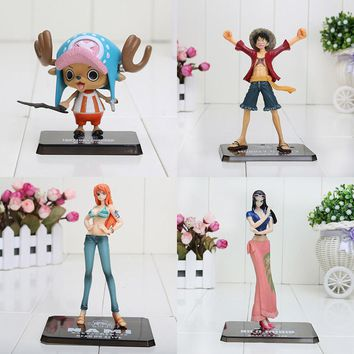 6-16cm One Piece Figure After 2 years Monkey D Luffy Nami Chopper Nico PVC Action Figure Collection Model Toy