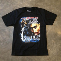 Tupac Shakur 2pac All Eyez on Me , black T-shirt