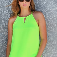 Summer Is Calling Tank {Lime}