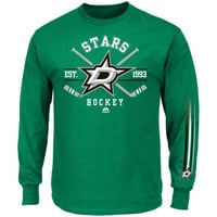 Majestic Dallas Stars Cross Check Long Sleeve T-Shirt - Green