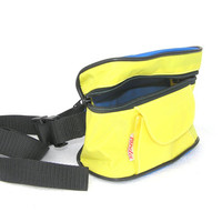Soviet fanny pack hip waist belt bag neon yellow blue new old stock unused