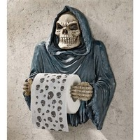 SheilaShrubs.com: Grim Reaper Sculptural Bath Tissue Tyrant CL56592 by Design Toscano