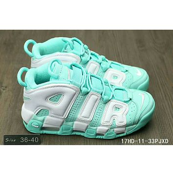 Nike Air More Uptempo Pippen AIR sneakers F-HAOXIE-ADXJ Mint green + white letters