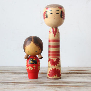 Wood Japanese Kokeshi Doll