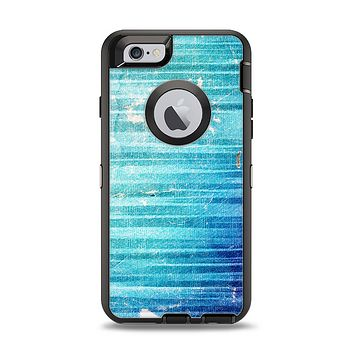 The Patchy Folded Vibrant Blue Paint Apple iPhone 6 Otterbox Defender Case Skin Set