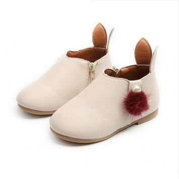 Baby Girl Boots Childrens Kids PU Leather Boots Single Princess Spring Autumn Casual S