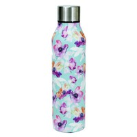 Stainless Water Bottle - Teal Floral