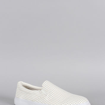 Soda Perforated Slip On Sneaker