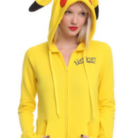 Pokemon Pikachu Costume Girls Hoodie