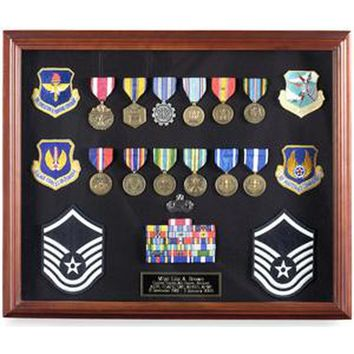 Medal Display Case, Medal Shadowbox Hand Made By Veterans