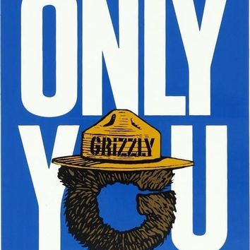 Grizzly Only You Decal