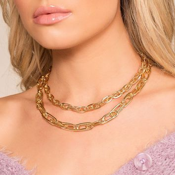 Chain Reaction Gold Layered Necklace