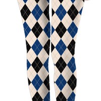 Classic girls leggings, argyle rhombus pattern, geometric design, casual style